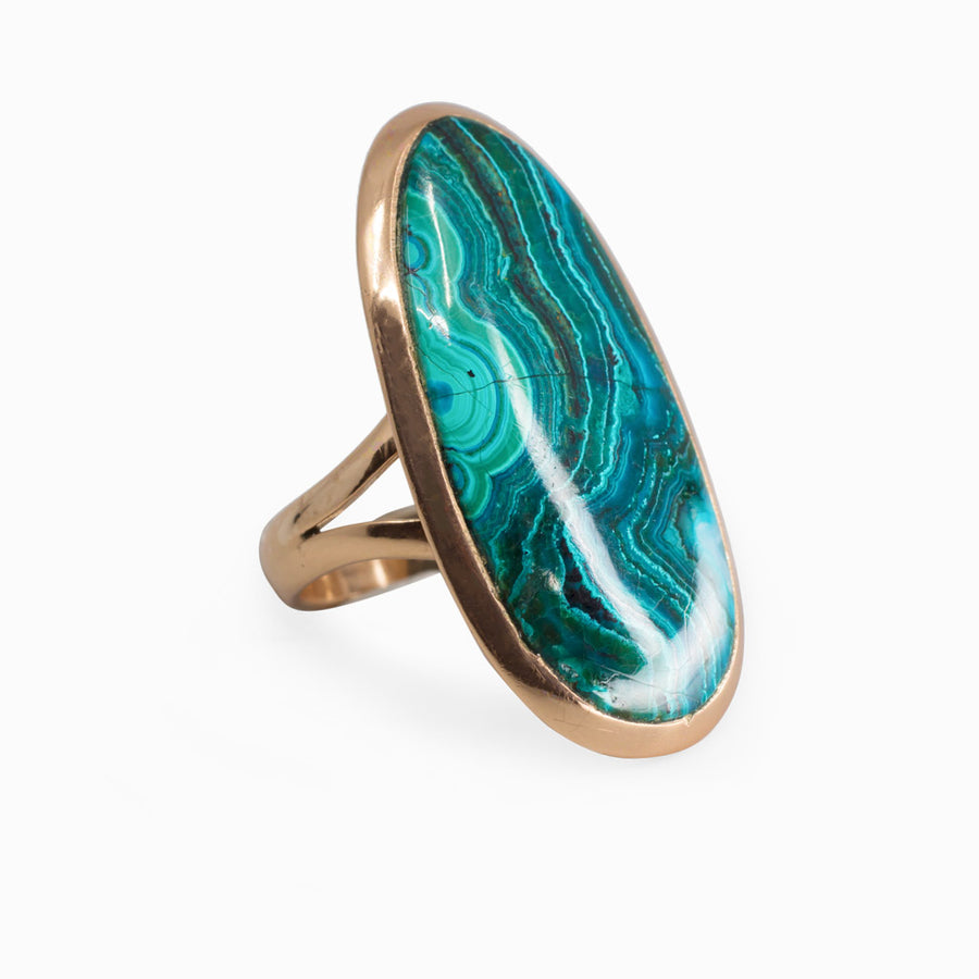 Chrysocolla Malachite Ring