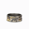 Oxidized 18k Gold & Sterling Silver Textured Ring
