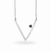 Triangulo: Black Spinel & Diamond Necklace
