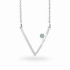 Triangulo: Emerald & Diamond Necklace