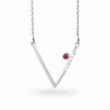 Triangulo: Ruby & Diamond Necklace