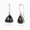 Onyx Faceted Triangle Shaped Earrings