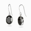 Onyx Faceted Oval Drop Earrings