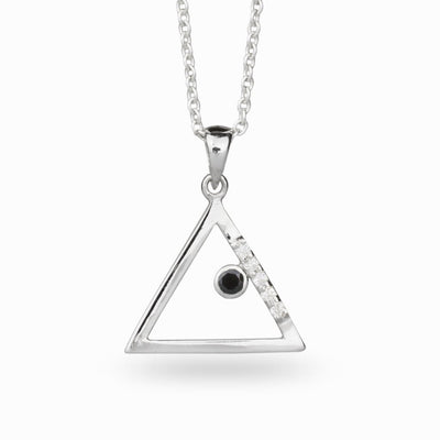 Triangulo: Black Spinel & Diamond Pendant