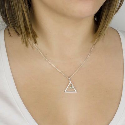 Triangulo: Emerald & Diamond Pendant