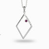 Diamante: Ruby & Diamond Pendant