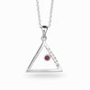 Triangulo: Ruby & Diamond Pendant