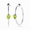 Faceted Peridot Hoops