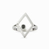 Diamante: Black Spinel & Diamond Ring