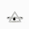 Triangulo: Black Spinel & Diamond Ring