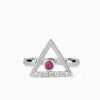 Triangulo: Ruby & Diamond Ring