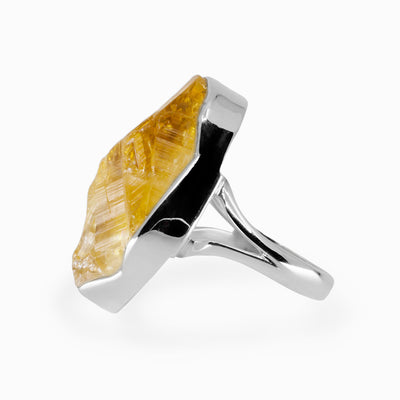 Raw Citrine Ring