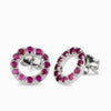 Faceted Ruby Stud Earrings