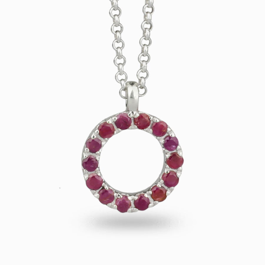 Faceted Ruby Pendant