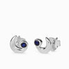 Sapphire Moon Earrings