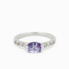 Tanzanite and White Topaz