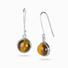 Tiger Eye Round Drop Earrings