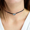 Agate Geode Leather choker