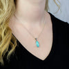 Amazonite Pendant on Model