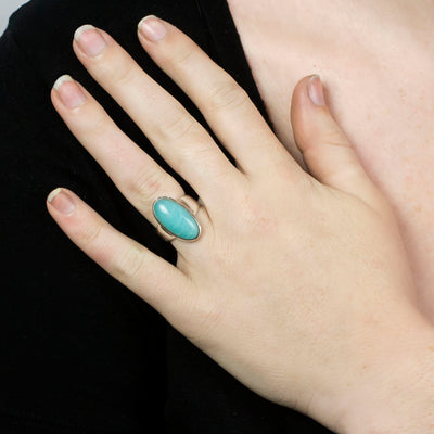 Amazonite Ring on Model