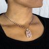 Amethyst beaded chain necklace with pendant