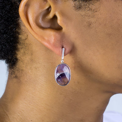 Chevron Amethyst Earrings