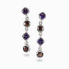 Garnet and Amethyst Earrings