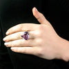 Amethyst Ring on Model