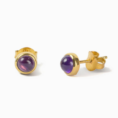 Vermeil Amethyst Earrings