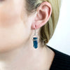 Apatite Earrings on Model