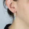 Aqua Aura Drop Earrings on Model