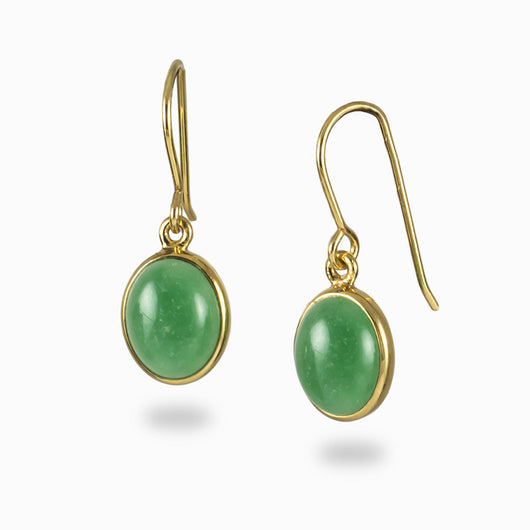 Aventurine Earrings from the Midas Touch Collection
