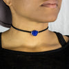 Azurite Leather Necklace