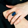 Azurite Ring on Model