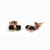 Black Tourmaline Stud Earrings