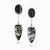 Black Tourmaline and Tourmalinated Quartz Drop Earrings