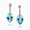 Blue Topaz with White Topaz earrings