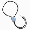 Botryoidal Blue Lace Agate Bolo-Tie