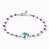 Blue Topaz and Amethyst Bracelet