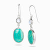 Campo Frio Turquoise and Rainbow Moonstone Earrings