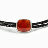 Carnelian Braided Leather Choker Necklace