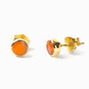 Vermeil Carnelian Stud Earrings