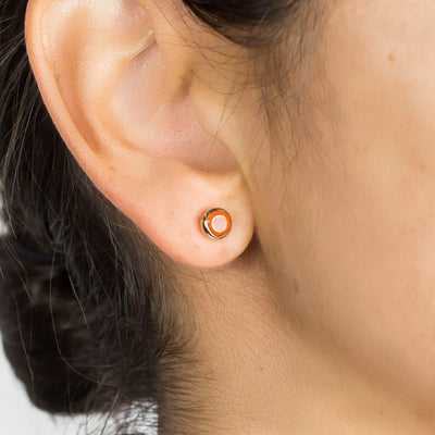 Vermeil Carnelian Earrings on Model