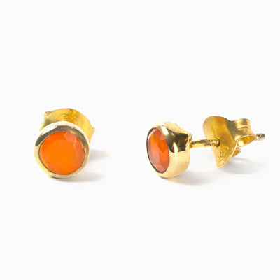 Vermeil Carnelian Earrings