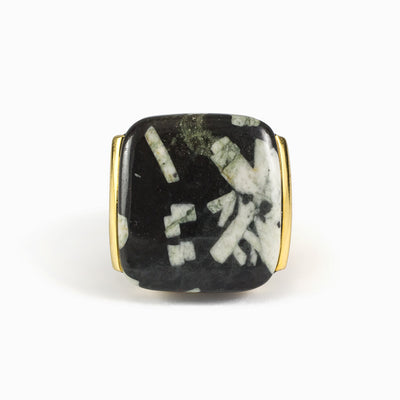 Chinese Writing Rock Ring