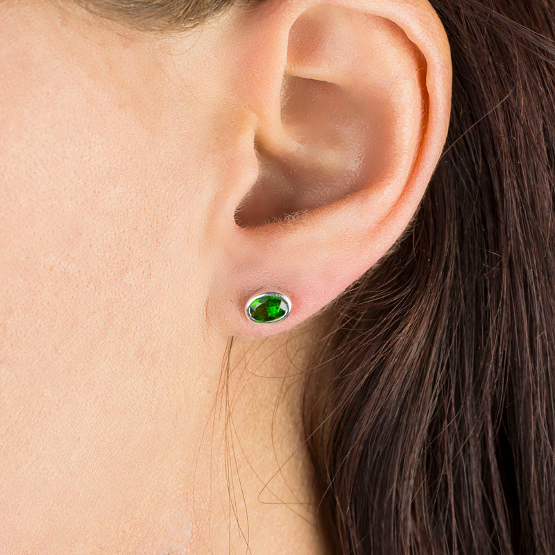 Chrome Diopside Earrings