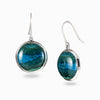 Chrysocolla Malachite Drop Earrings