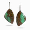 Chrysoprase In Matrix Earrings
