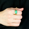 Chrysoprase Ring on Model