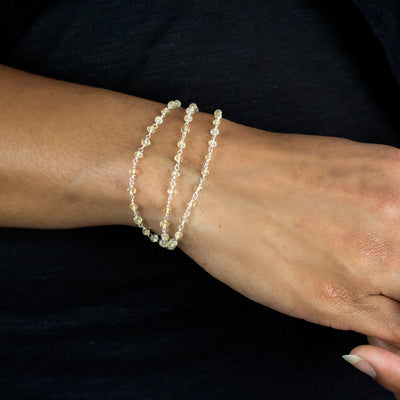 Citrine beaded chain bracelet